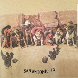 San Antonio Texas Cowboy Dog Cactus Sz S Unisex